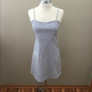 Brandy Melville Blue/White Pinstripe Dress